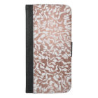 Stylish rose gold geometric hand drawn pattern iPhone 6/6s plus wallet case