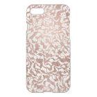 Stylish rose gold geometric hand drawn pattern iPhone 8/7 case