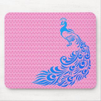 Stylish-Rose-Weave-Peacock-Blue-Unisex Mouse Pad