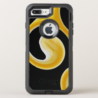 Stylish Royal Yellow Black Abstract OtterBox Defender iPhone 7 Plus Case