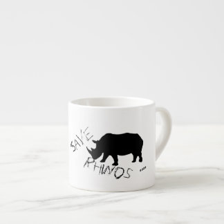 Stylish Save Rhinos Espresso Coffee Mug Cup