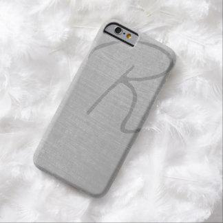 Stylish Script Brushed Grey iPhone 6 Case