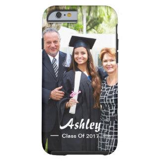 Stylish Script Class of Graduate Photo Portrait Tough iPhone 6 Case