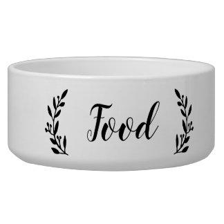 Stylish Script Dog Food Bowl
