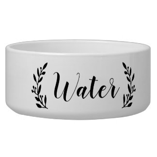 Stylish Script Dog Water Bowl