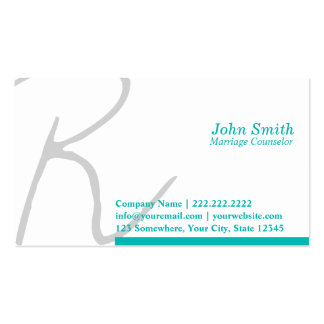 Stylish Script Marriage Counseling Business Card
