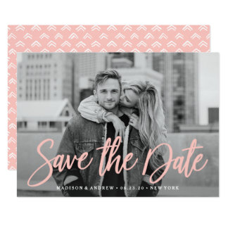 Stylish Script | Save the Date Card
