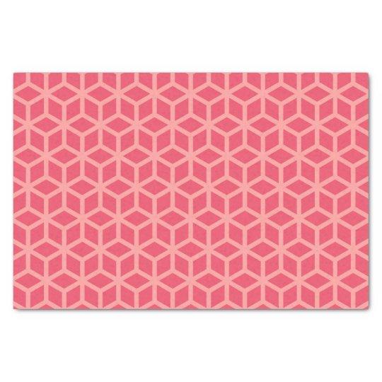 Stylish Shades of Pink Geometric Pattern Tissue Paper