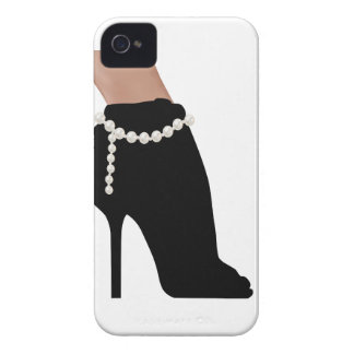 stylish silhouette beautiful woman shoes high heel iPhone 4 case