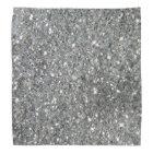 Stylish Silver Glitter Glitz Photo Bandana