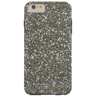 Stylish Silver Glitter Tough iPhone 6 Plus Case