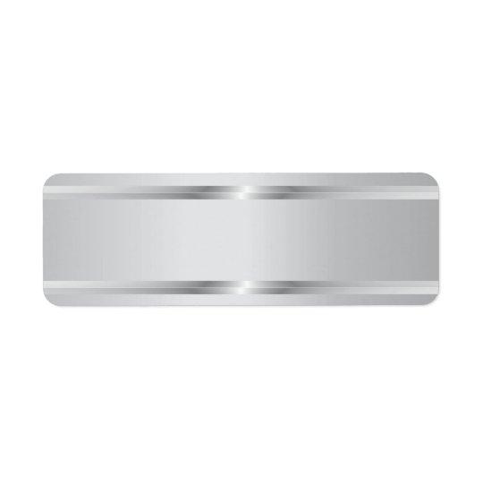 Stylish Silver Stripes Blank Return Address Labels