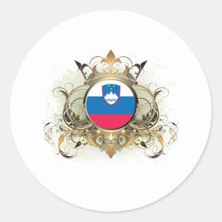 Stylish Slovenia Classic Round Sticker