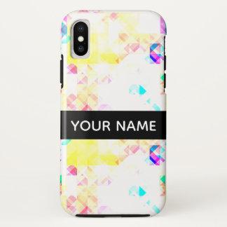 Stylish Soft Geometric Pattern With Name iPhone X Case