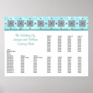 Stylish Southwest Turquoise Wedding Seating Chart