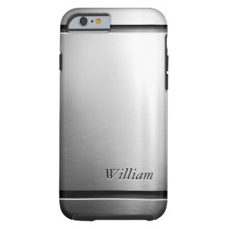 Stylish Stainless Steel Brush Metal Masculine Look Tough iPhone 6 Case