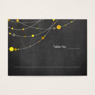 Stylish Strands   chalkboard yellow place card