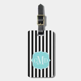 Stylish Stripes Monogram Luggage Tag