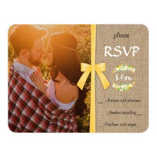 Stylish Summer Wedding RSVP Card