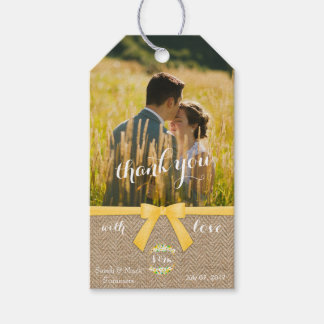 Stylish Summer Wedding Thank You Gift Tags