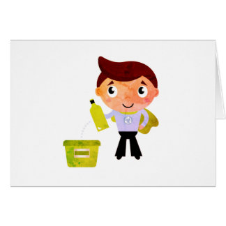 Stylish Superhero greeting in Kids style Card