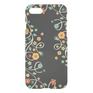 Stylish Swirl Floral Flowers - Dark Fashion iPhone 8/7 Case