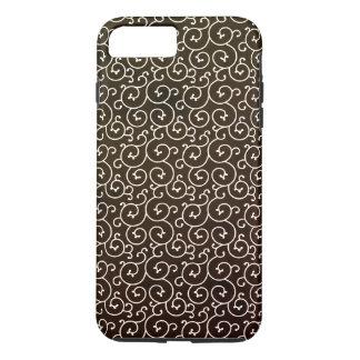 stylish swirl pattern / brown iPhone 8 plus/7 plus case