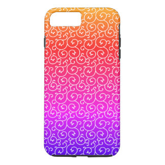 stylish swirl pattern / rainbow iPhone 8 plus/7 plus case