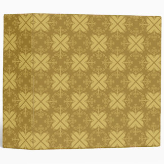 Stylish Swirls Pattern Binders:Yellow Brown Vinyl Binders