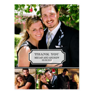 Stylish Tab Wedding Thank You Card