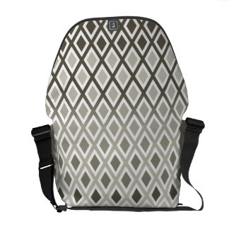 Stylish Taupe Diamond Pattern Messenger Bag