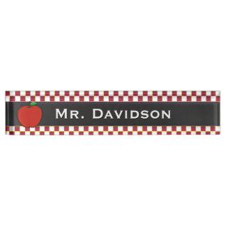 Stylish Teacher's Custom Desk Nameplate