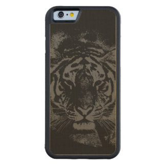 Stylish Tiger Wooden Carved Maple iPhone 6 Bumper Case