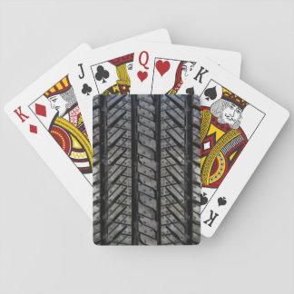 Stylish Tire Rubber Automotive Texture Poker Deck