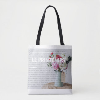 Stylish Tote - Springtime - French Inspired