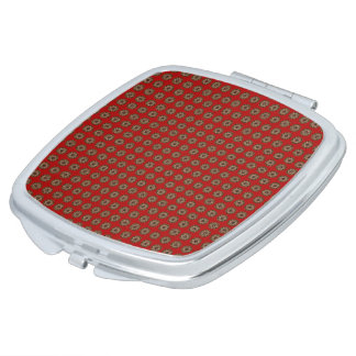 Stylish-Traditional-Red-Gold-Sanskrit-Compact's Mirror For Makeup