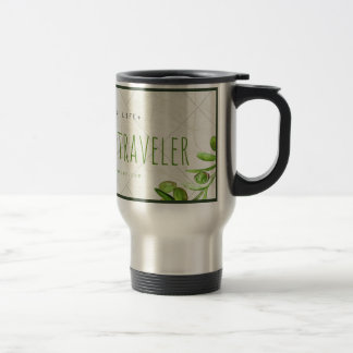 Stylish Traveler's Mug with Organic Theme