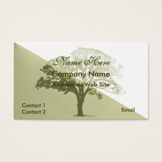 Stylish Tree Silhouette Business Card