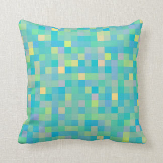 Stylish Trendy Cheerful Multicolor Mosaic Pattern Throw Pillow