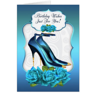 Stylish Trendy High Heel Shoe Birthday Greeting Ca Card