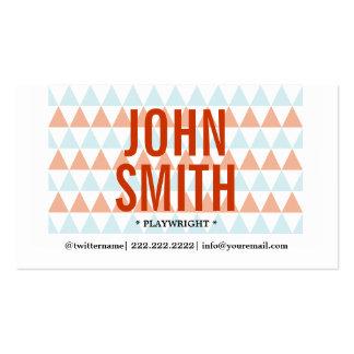 Stylish Triangle Pattern Playwright Business Card