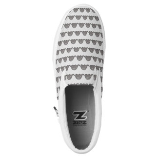 Stylish tribal iconic cute spiral elephant pattern Slip-On sneakers
