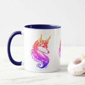 Stylish Triple Hand Drawn Wolf Sunset Combo Mug