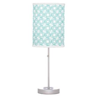 Stylish Turqoise Swirl Vortex Pattern Table Lamp