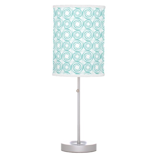 Stylish Turqoise Swirl Vortex Pattern Table Lamps