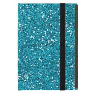 Stylish Turquoise Blue Glitter iPad Mini Cover