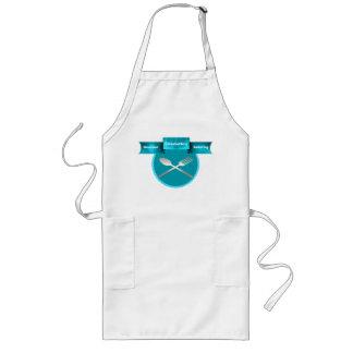 Stylish Turquoise Name Plaque Custom Chef Apron