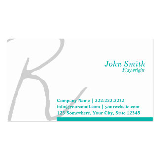 Stylish Typography Playwright Business Card