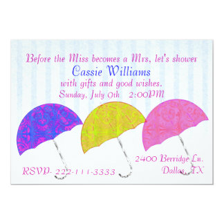 Stylish Umbrellas Bridal Shower Invitation