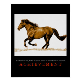 Stylish Unique Motivational Horse Poster Print